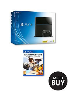 playstation-4-500gb-console-with-overwatch-and-optional-extra-controller-andor-365-days-psn-subscription