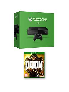 xbox-one-1tb-console-with-doom-and-optional-extra-controller-12-months-xbox-live-subscription