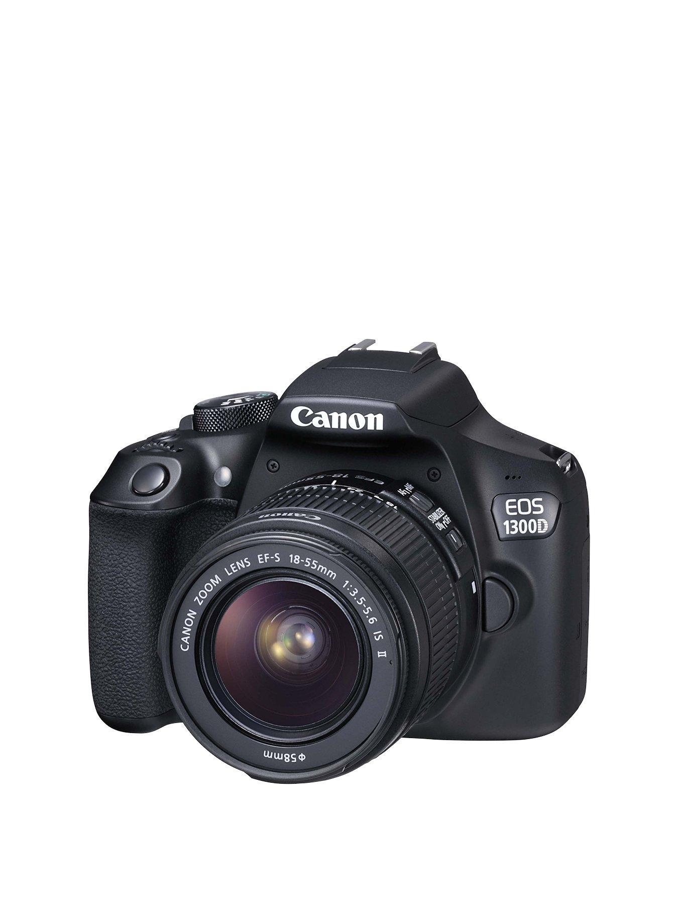 Canon EOS 1300D SLR Camera inc EF-S 18-55mm f/3.5-5.6 Non IS DC III Lens