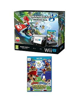 Nintendo Wii U Console With Mario Kart 8 And Mario &Amp Sonic At The Rio 2016 Olympic Games