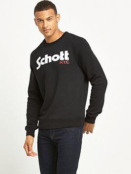 schott-logo-crew-sweat