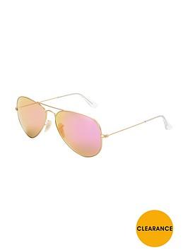 ray-ban-flash-lens-aviator-sunglasses-gold