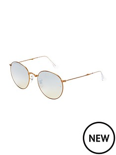 ray-ban-oversized-round-sunglasses-rose-gold