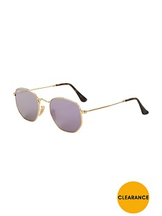 ray-ban-hexagonal-sunglasses-gold