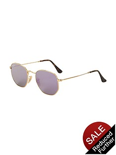 ray-ban-hexagonal-sunglasses-gold