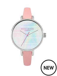 daisy-dixon-kylie-iridescent-striped-dial-pink-strap-ladies-watch