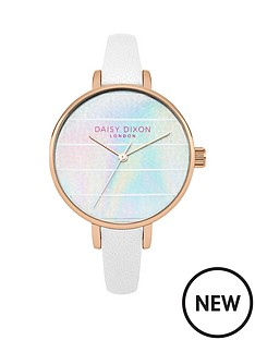 daisy-dixon-kylie-iridescent-striped-dial-white-strap-ladies-watch