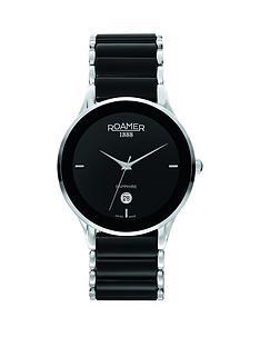 roamer-ceraline-saphira-black-dial-black-bracelet-stainless-steel-mens-watch