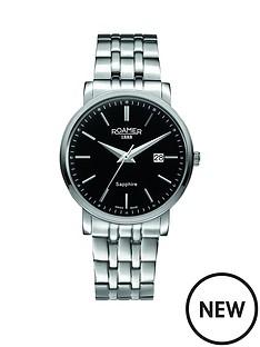 roamer-classic-line-black-dial-stainless-steel-bracelet-mens-watch