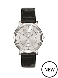 roamer-roamer-classic-line-silver-tone-dial-black-leather-strap-mens-watch