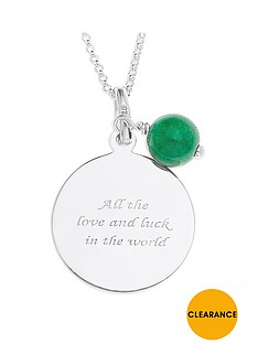 the-love-silver-collection-sterling-silver-and-jade-bead-luck-message-pendant