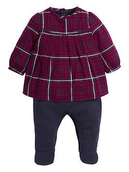 mamas-papas-mamas-amp-papas-mock-checked-blouse-all-in-one
