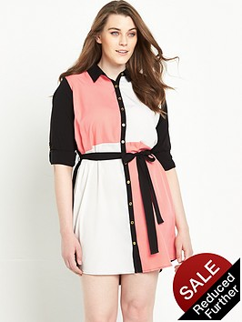 ax-paris-curve-stripenbspshirt-dress-with-long-sleevesnbsp