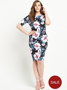 ax-paris-curve-midi-short-sleeve-dress
