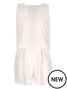 river-island-double-layer-lace-trim-playsuit