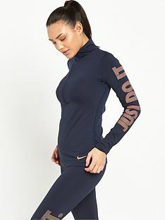nike-pro-warm-metallic-ls-12-zip-top