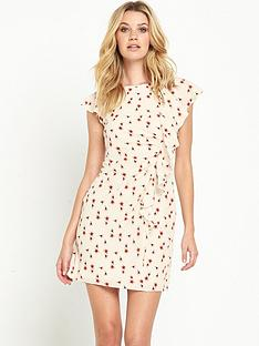 guess-guess-iknur-little-peach-flower-ruffle-dress