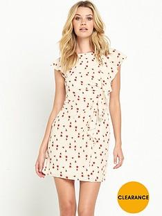 guess-guess-iknur-little-peach-flower-ruffle-dress