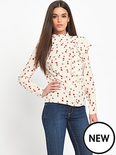 guess-guess-ramsha-little-peach-flower-ruffle-top