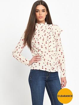 guess-guess-ramsha-little-peach-flower-ruffle-top