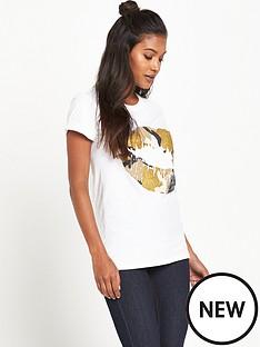 river-island-river-island-white-lips-print-t-shirt