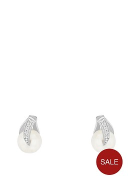 the-love-silver-collection-sterling-silver-cubic-zirconia-and-freshwater-pearl-stud-earring