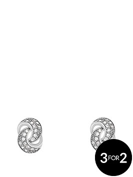 the-love-silver-collection-sterling-silver-cubic-zirconia-knot-earring