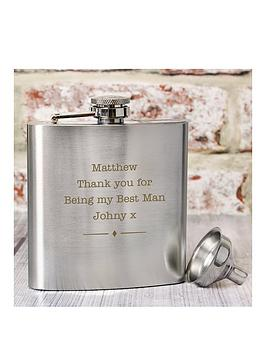 Very Personalised Stainless Steel Hip Flask Picture
