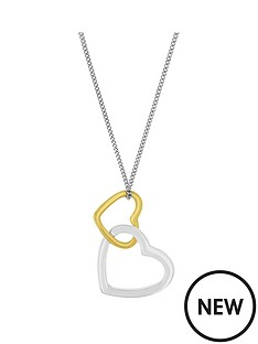 the-love-silver-collection-sterling-silver-two-tone-heart-pendant