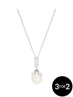 the-love-silver-collection-sterling-silver-cubic-zirconia-and-single-freshwater-pearl-pendant