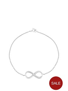the-love-silver-collection-sterling-silver-cubic-zirconianbspinfinity-bracelet