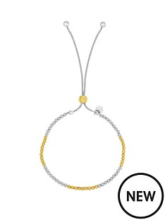 the-love-silver-collection-sterling-silver-rhodium-and-gold-textured-adjustable-friendship-bracelet