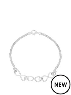 the-love-silver-collection-sterling-silver-multi-strand-popcorn-chain-infinity-link-bracelet