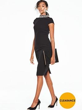 v-by-very-diamante-neck-bodycon-dress-black