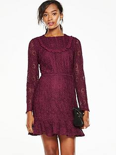 v-by-very-lace-flippy-hem-dress-maroon