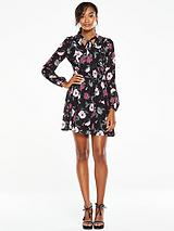 Printed Ruffle Tea Dress