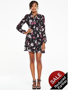 v-by-very-printed-ruffle-tea-dress