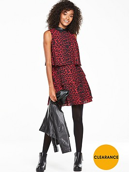 v-by-very-ruffle-tiered-printed-dress-animal-print