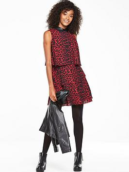 V By Very Ruffle Tiered Printed Dress  Animal Print