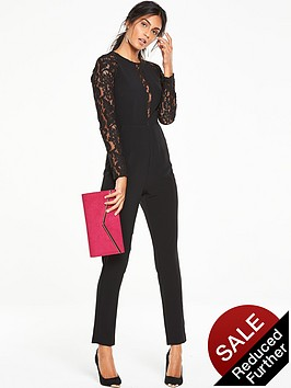v-by-very-lace-detail-slim-leg-jumpsuit-black