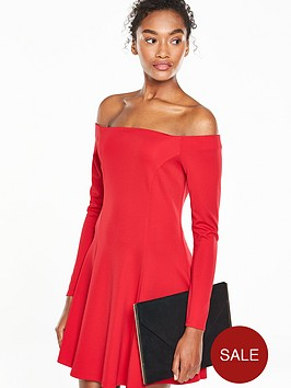 v-by-very-long-sleeve-fit-and-flare-dress
