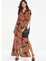 Maxi Printed Shirt Dress