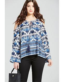 girls-on-film-curve-aztec-cold-shoulder-top