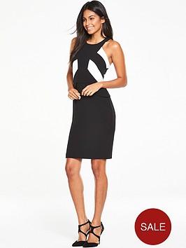 v-by-very-colour-block-bodycon-dress-black