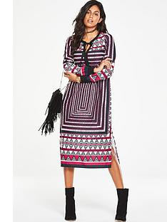 v-by-very-printed-fringe-detail-midi-dress