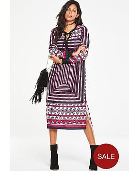 v-by-very-printed-fringe-detail-midi-dress