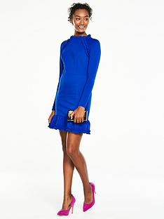 v-by-very-ponte-ruffle-dress-cobalt
