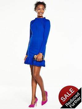 v-by-very-ponte-ruffle-dress-cobalt