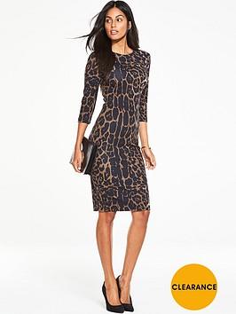 v-by-very-animal-printed-midi-bodycon-dress