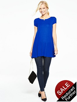 v-by-very-short-sleeve-swing-tunic-top